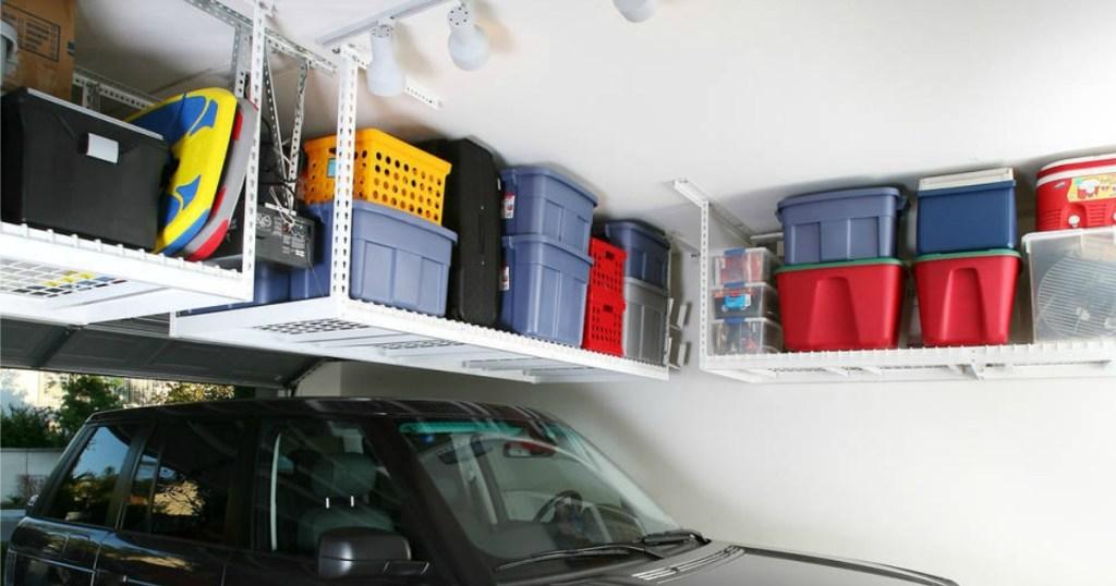 saferacks overhead garage storage combo