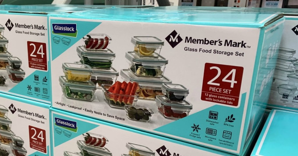 mark 24 piece glass food storage set