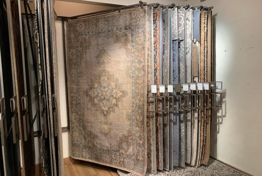 pottery barn copycat post - medallion neutral persian rug