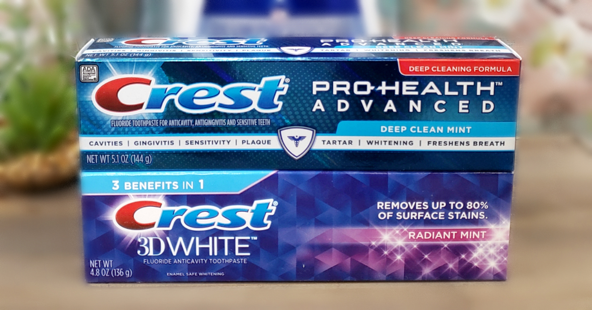 High Value 2 1 Crest Toothpaste Coupon Score Toothpaste
