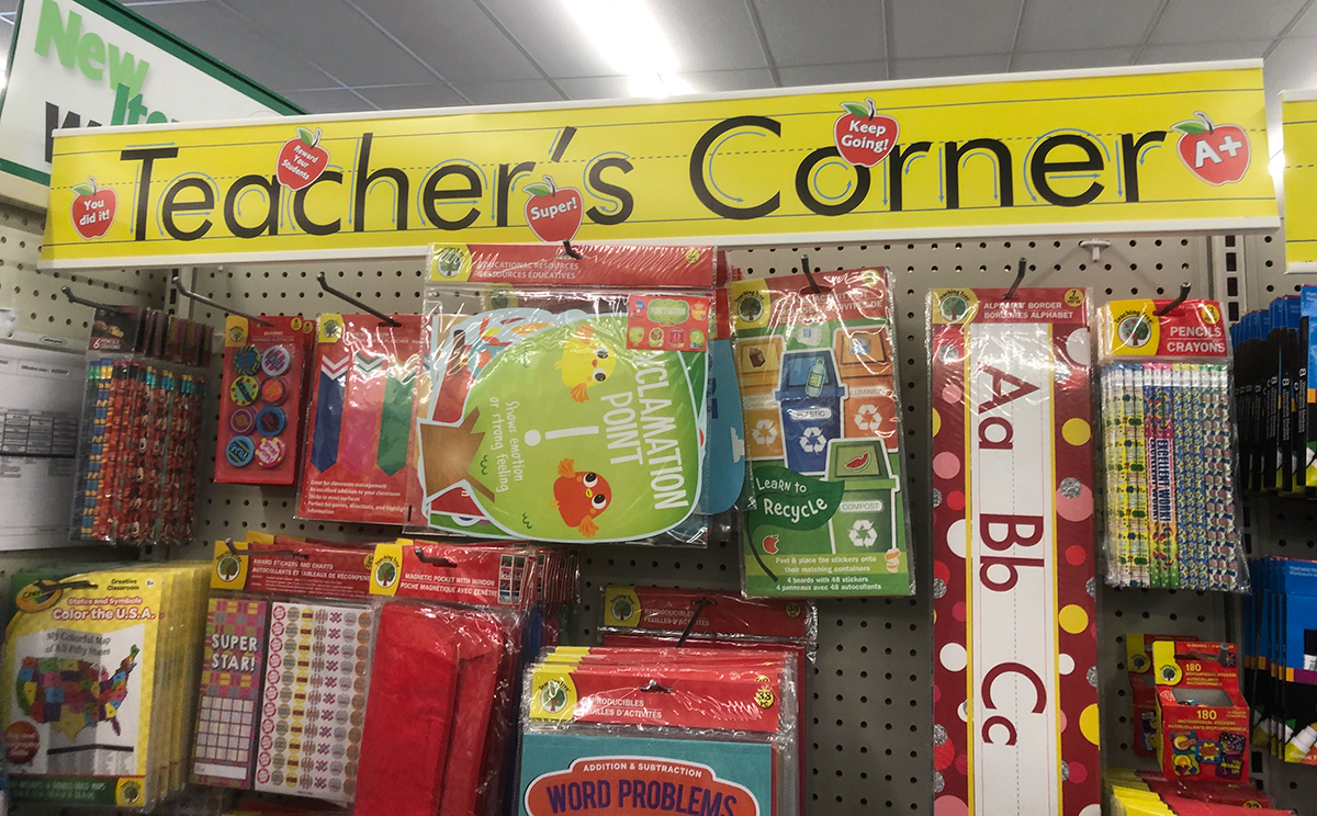 learning station with dollar tree supplies