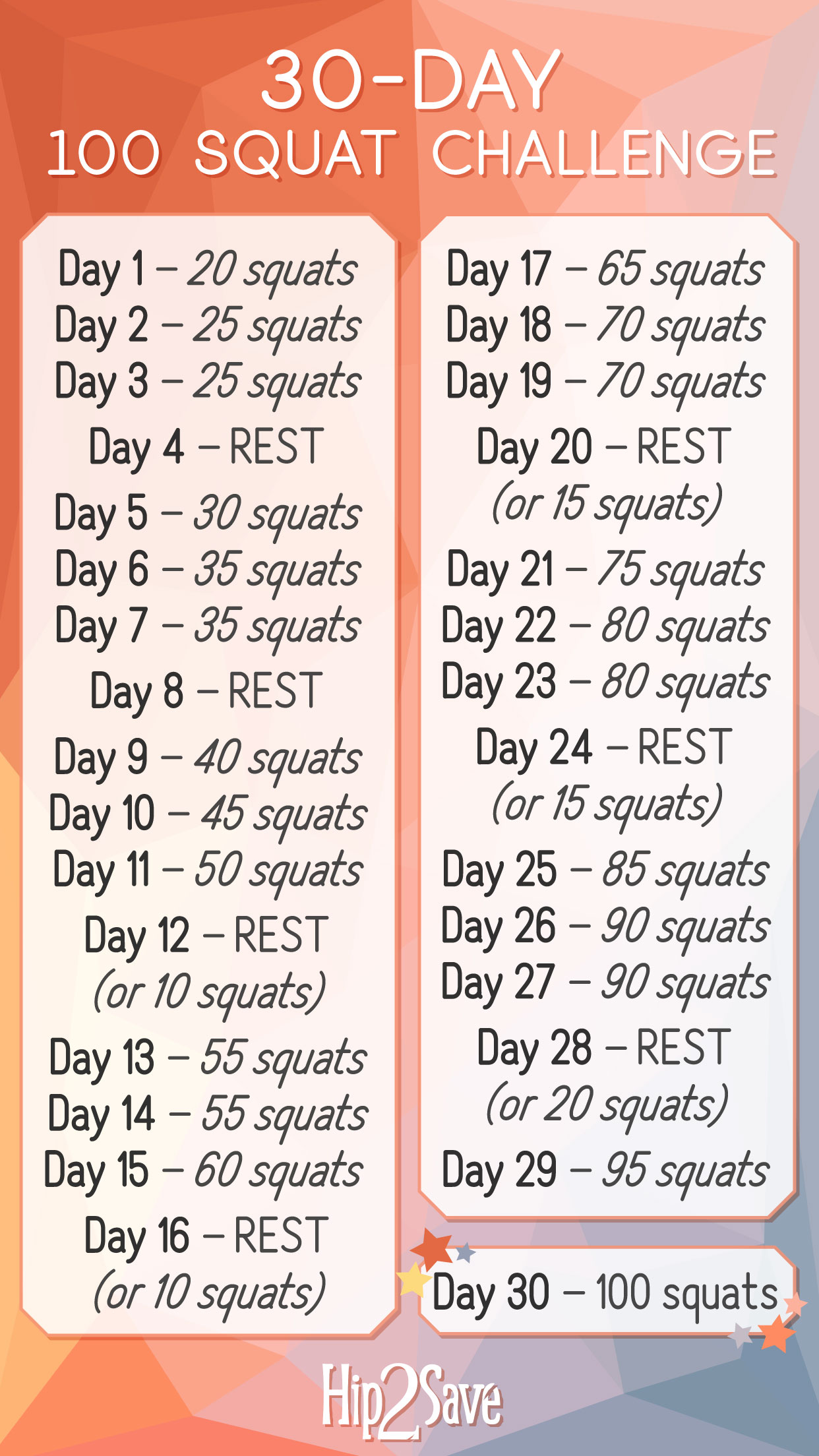 Free 30 Day Squat Challenge How To Do Perfect Squats
