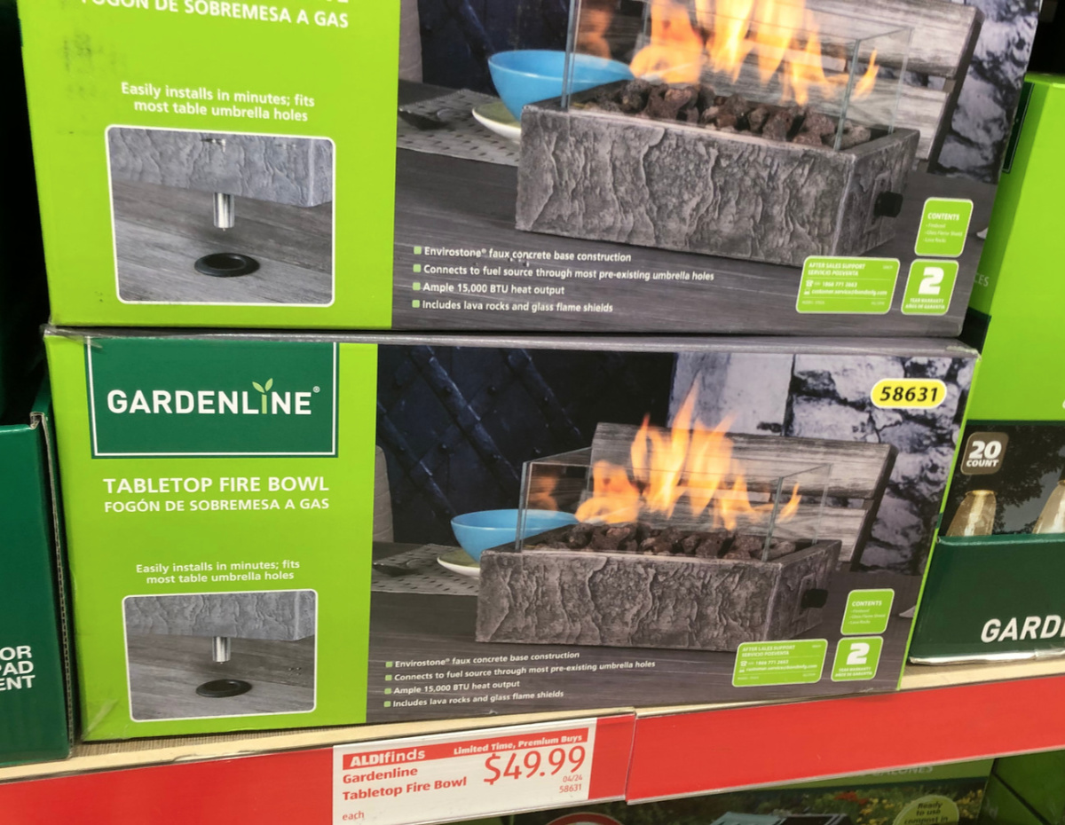 New Patio Deals At ALDI Tabletop Fire Bowl Adirondack Chairs Amp More