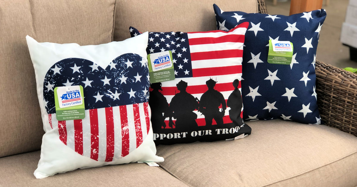 patriotic pillows only 5 more at walmart