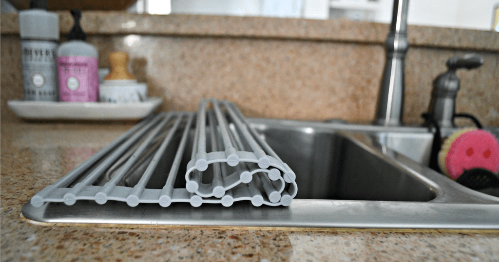 this roll up dish drying rack is a game