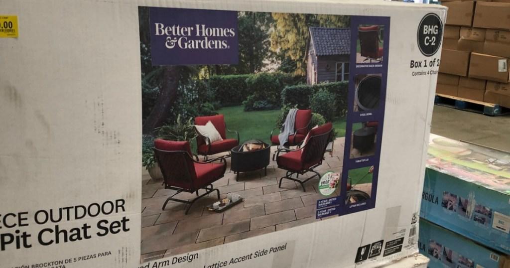 better homes gardens 5 piece fire pit