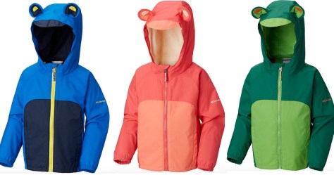 3 Infant Kitteribbit Fleece Lined Rain Jackets