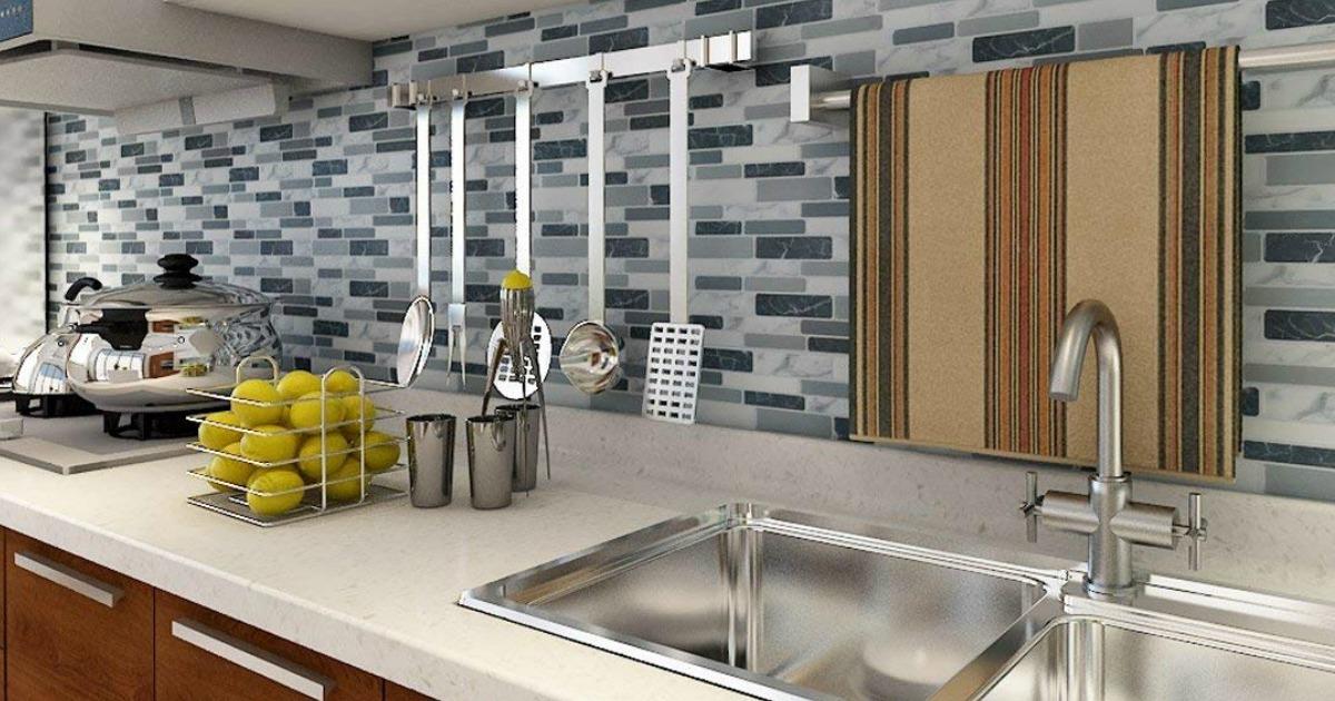 off art3d peel stick backsplash tiles