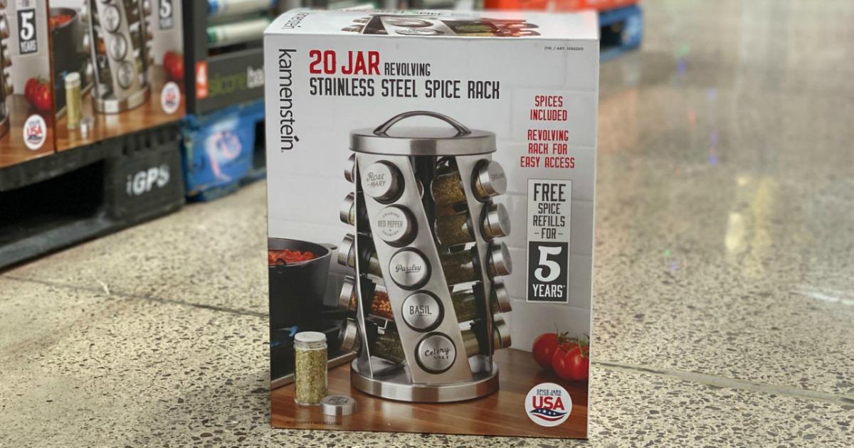 20 jar revolving spice rack