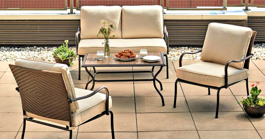 hampton bay 4 piece patio set just 399