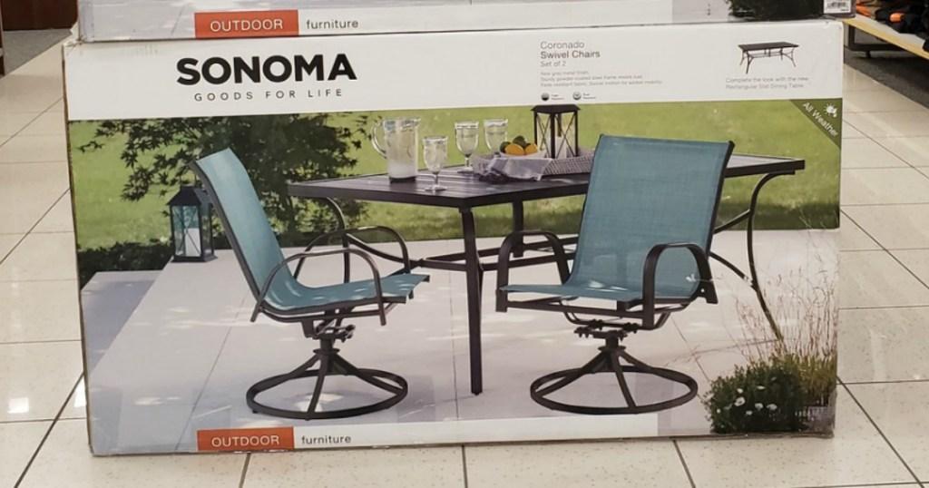 sonoma goods for life swivel chair set