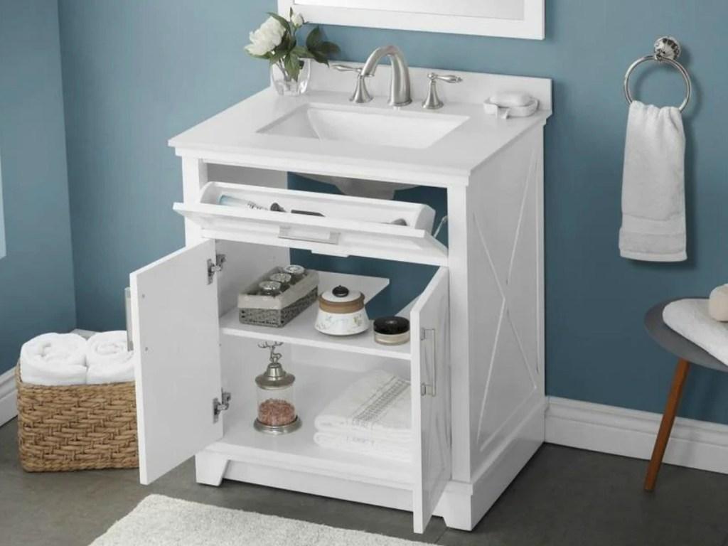 off bathroom vanity sets on lowes com