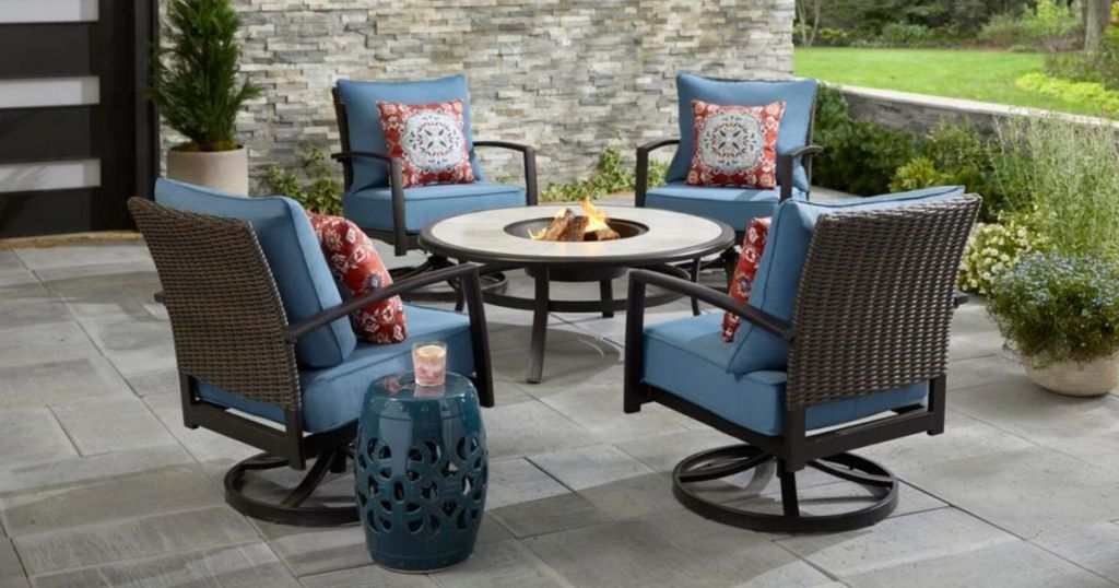 5 piece fire pit patio sets from 374