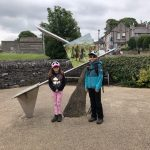 Hip2trek kids stand in Castleton village