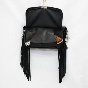 concealed carry purse side fringe black