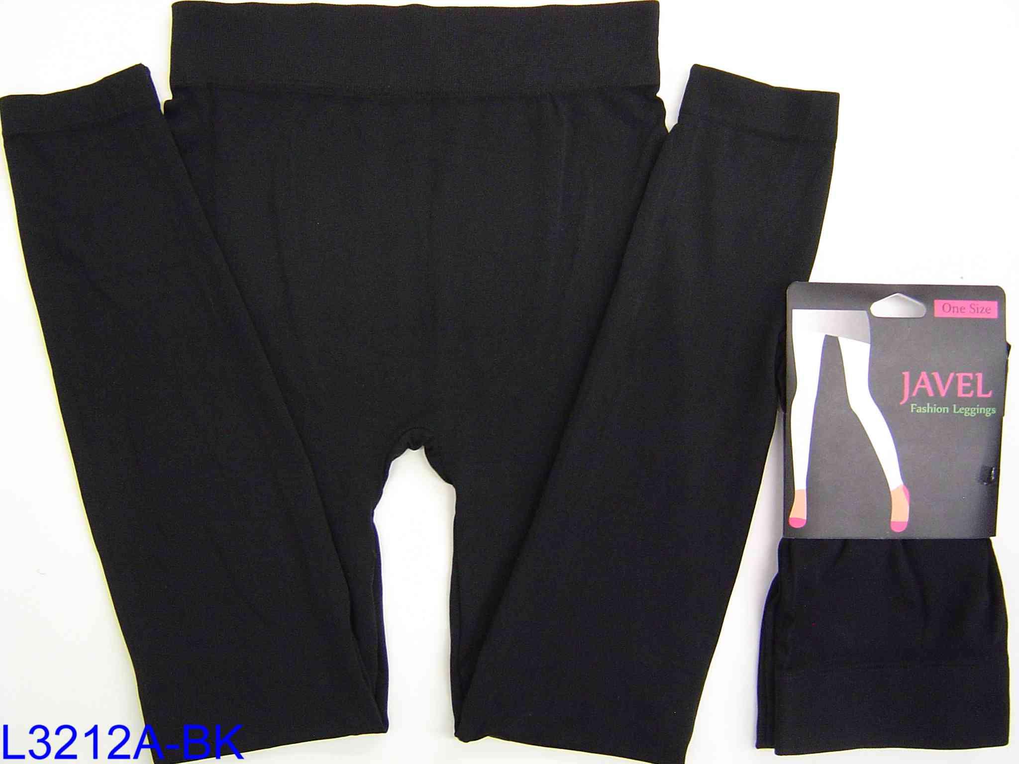 JAVEL Women/'s Solid Knit Leggings