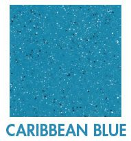 Caribbean blue fiberglass pool