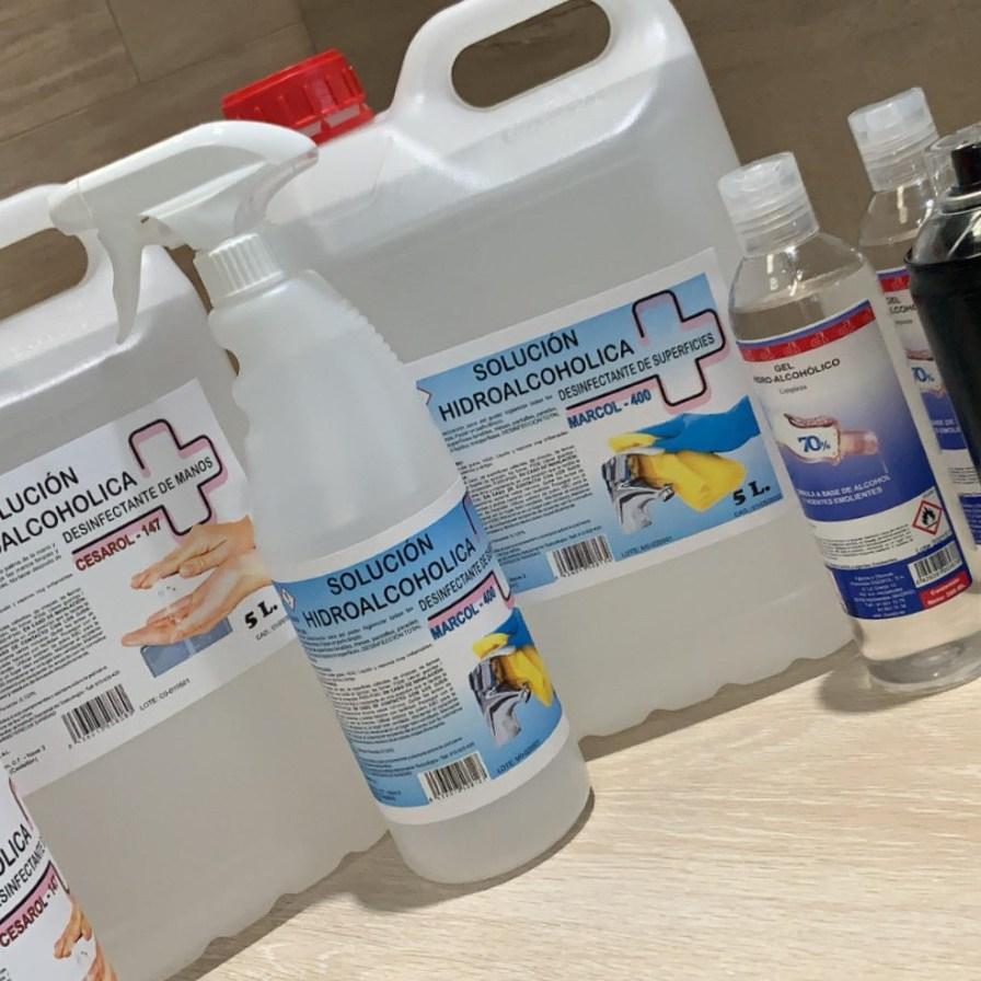 Nueva linea de desinfectantes para piel y superficies.