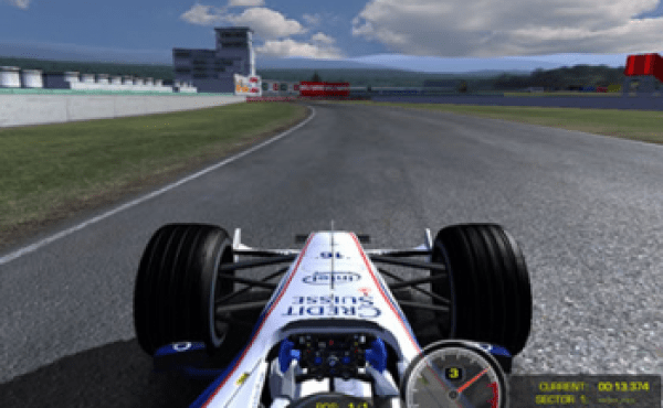 Increíble simulador de Fórmula 1