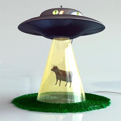 Lamp 1 Cow