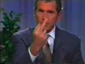 Bush Flipping Finger-1