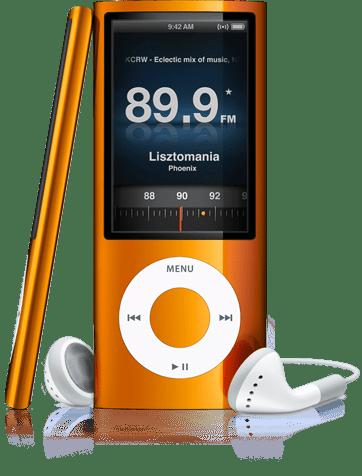 iPod con radio FM