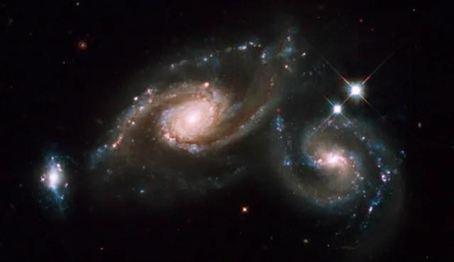 Galaxias colisionando