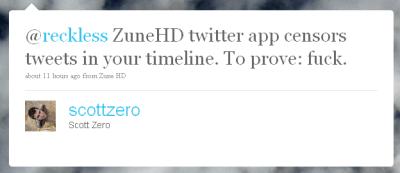 Zune HD Twitter