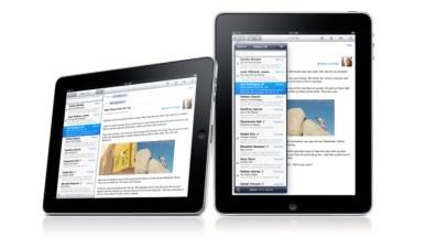 iPad corriendo Mail
