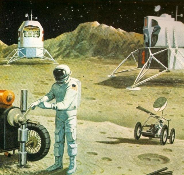 Vehículo Lunar astronauta