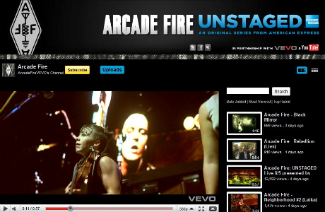 Unstaged Arcade Fire