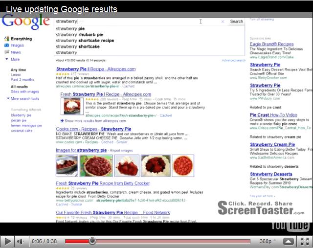 Google resultados al escribir