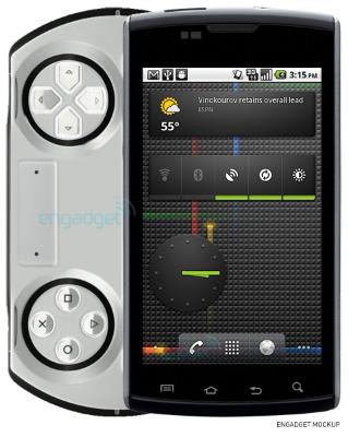 Modelo de lo que sería el nuevo Sony Ericsson para gamers