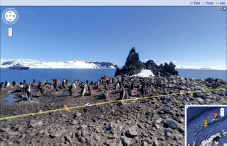 Google Street View Antartida