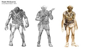 Bocetos previos de Chewbacca
