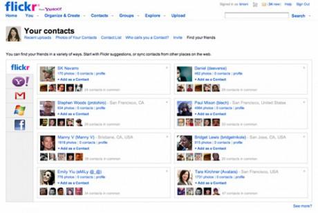 Flickr sugiere amigos