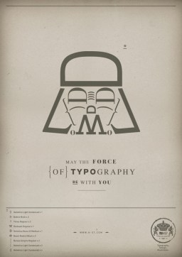 The force of Typography - Darth Vader