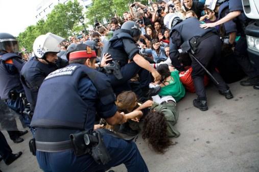 Desalojo acampada Barcelona 24