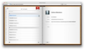 iCloud web Contacts