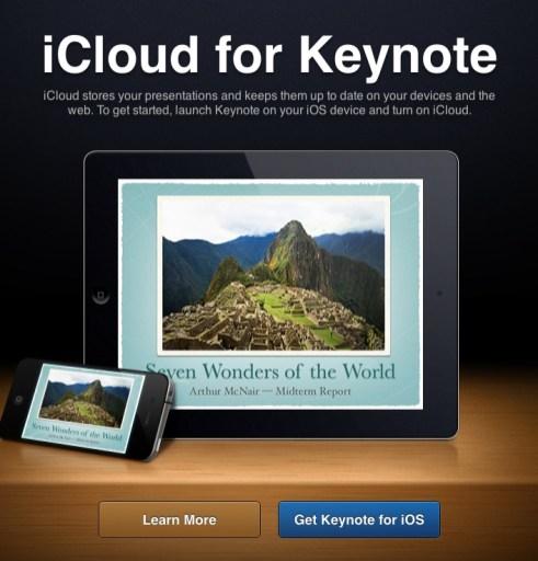 iCloud web Keynote