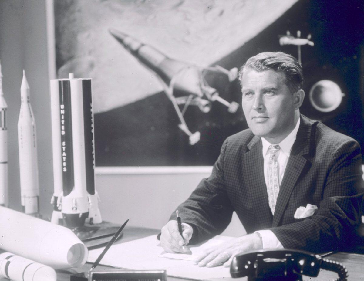 Von Braun en la NASA en 1960