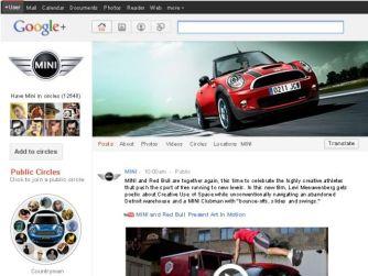 Concepto de página de Mini en Google+