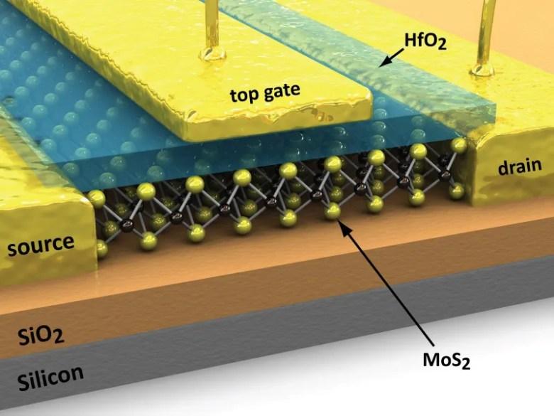 Molibdenita transistor