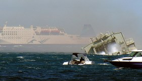 HMNZS Wellington Scuttle new reef cool explosion 7