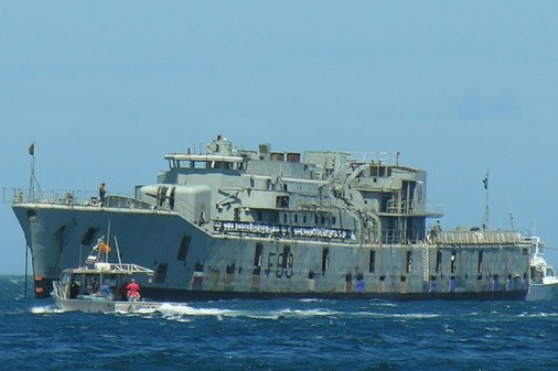 HMNZS Wellington Scuttle new reef cool explosion