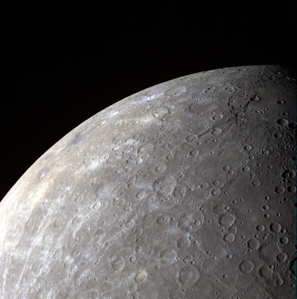 Mercurio hemisferio sur