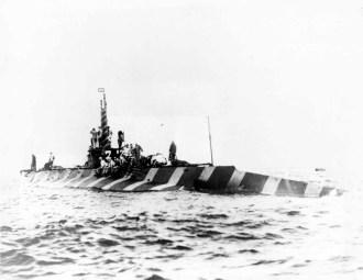 Submarino con camuflaje Dazzlw