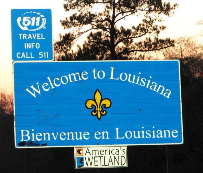 Estado de Luisiana, señal de tráfico