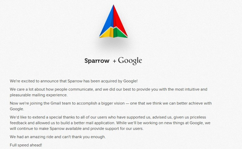 sparrow google