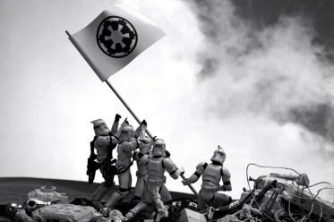 Star Wars - troopers raising the flag on iwo jima' (joe rosenthal's 'raising the flag on iwo jima)